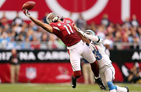 Larry Fitzgerald of the Arizona Cardinals went to Academy of Holy Angels (Richfield).