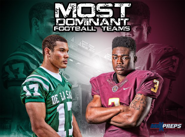 See the most dominant high school football teams in each state, plus the Top 10 nationwide.