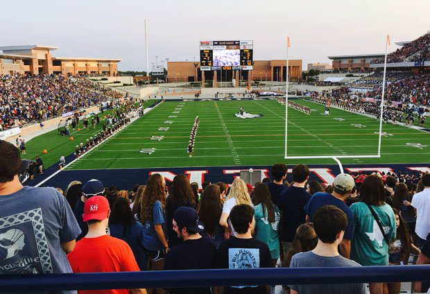 McKinney's new football stadium should compare to Allen's, which seats more than 20,000 fans.