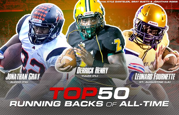Top 50 High School Running Backs Of All Time Maxpreps