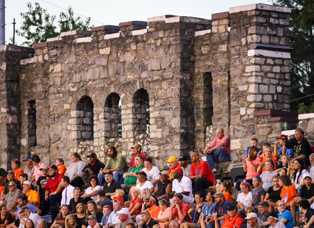 Fans look on during the 100th meeting in the rivalry game between Tennessee and Virginia high schools on Sept. 8.