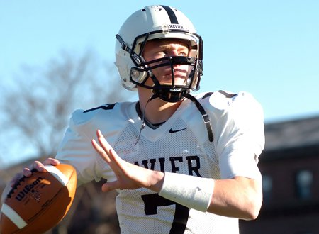 Xavier quarterback Tim Boyle and the No. 1 Falcons are eying a third-straight title.