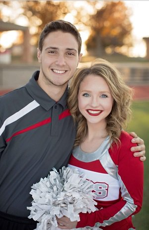 Cummings played football, wrestled and  was on the basketball cheer squad for one year  with his sister, Kamber.