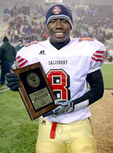 Romar Morris earned the MVP awardfrom the 2AA state title game. He hasbeen a part of eight state titles.