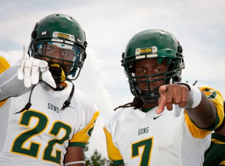 University's Rashard Causey and D.J. Woods have the rest of the nation's small schools on notice: They are No. 1.