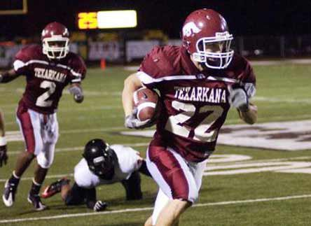 Arkansas High School uses the same mascot and color scheme as the University of Arkansas.