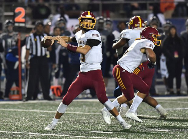 Jay Butterfield led Liberty to a CIF Division 1-A Bowl championship in 2018.
