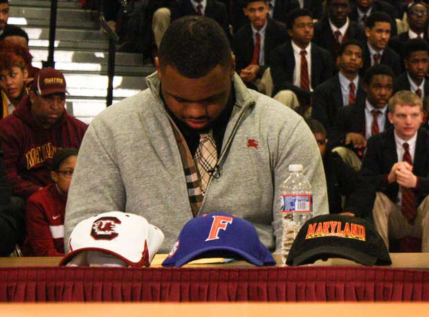 Damian Price of Bishop McNamara (Forestville, Md.) commits to Maryland.