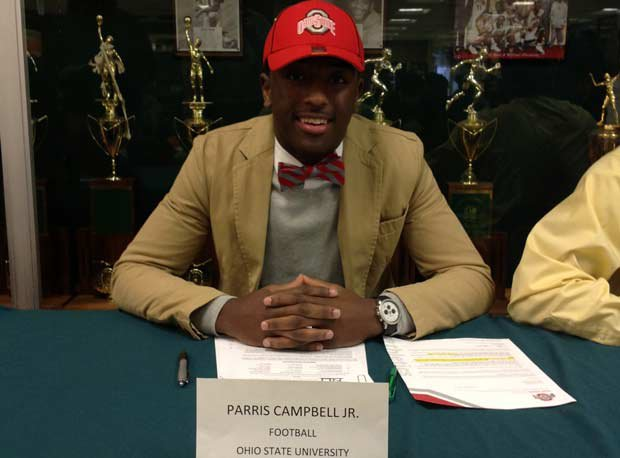 Parris Campbell Jr. of St. Vincent-St. Mary (Akron, Ohio) signs with Ohio State.