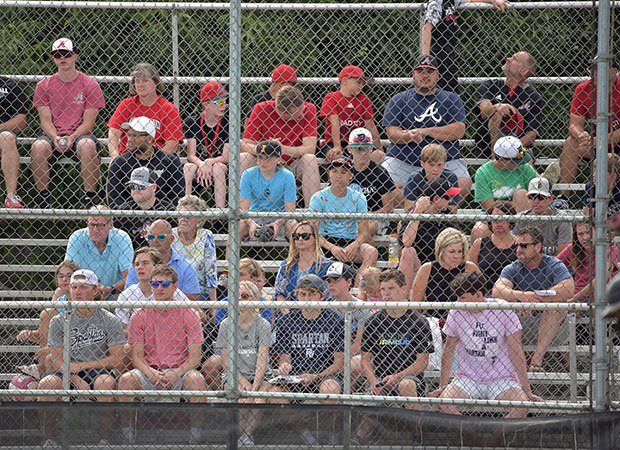 Fans were permitted to attend the game at Assumption High School in Davenport.