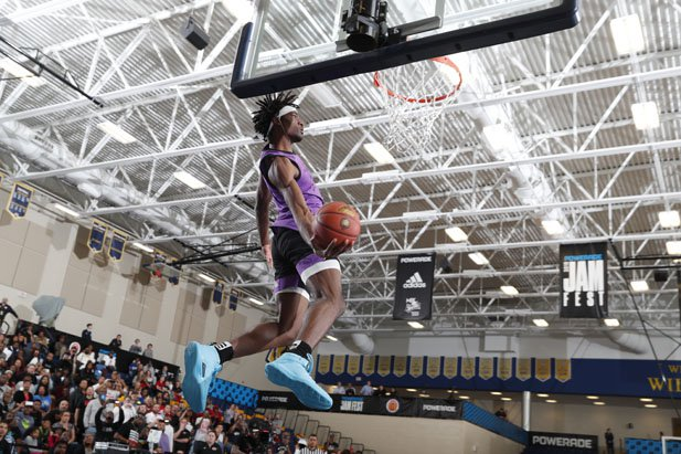 Precious Achiuwa, one of five uncommitted 5-star players, put on a show in Monday's POWERADE Jam Fest.