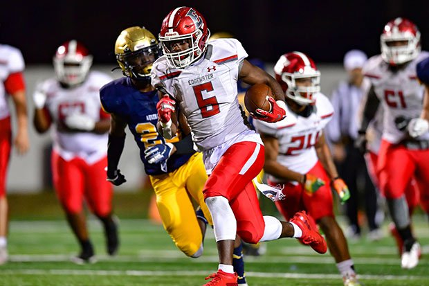 Alabama commit Christian Leary breaks free for Edgewater in last season's Class 7A state championship game.