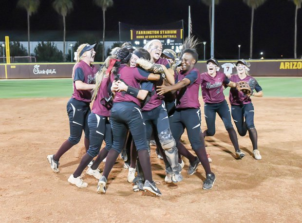 The Hamilton softball team brought home a state title, just like the baseball squad.