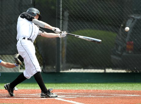 University of San Diego-bound outfielder Ryan Kirby shows off his picture-perfect swing that has helped key Granada's picture-perfect season. Kirby is one of four regular left-hand bats in the team's potent lineup.