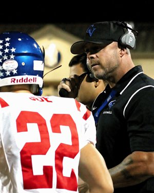 Clayton Valley coach Tim Murphy, who looks like he could still play, attended College Park.