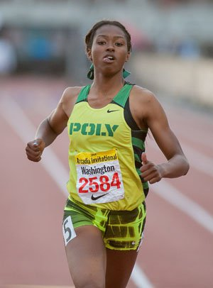 Long Beach Poly senior Ariana Washington looks to move up the ranks at state meet this weekend.