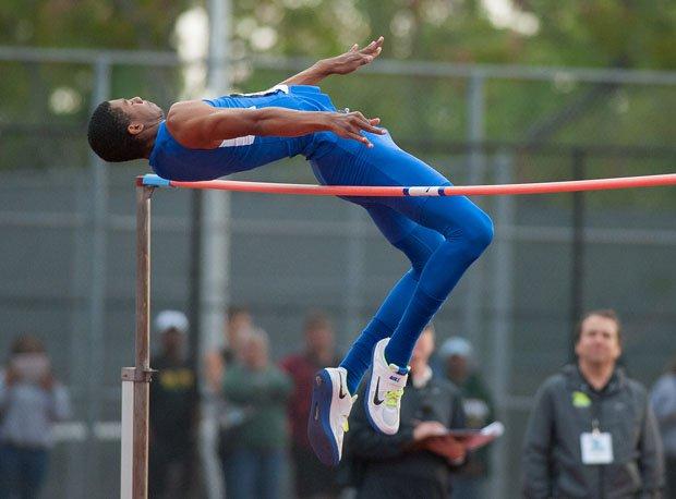 Randall Cunningham Jr., Bishop Gorman, is nation's second best high jumper.