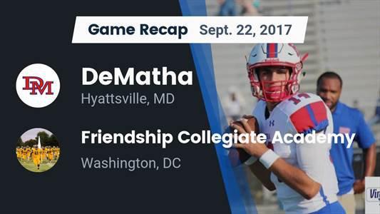 Football Game Preview: Friendship Collegiate Academy vs. DeMatha