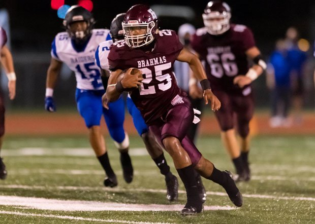 Texas commit Jonathon Brooks rushed for school records of 501 yards and nine touchdowns on Friday night.