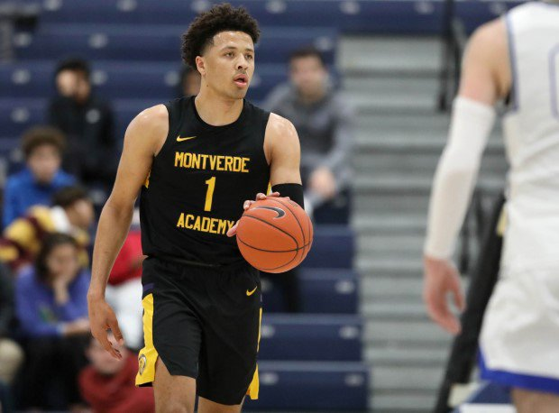 Cade Cunningham brings the ball up the court during his senior season Montverde Academy.