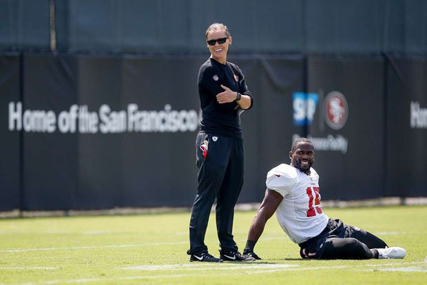 San Francisco 49ers offensive assistant Katie Sowers is just the second female to by hired by the NFL as a coach.