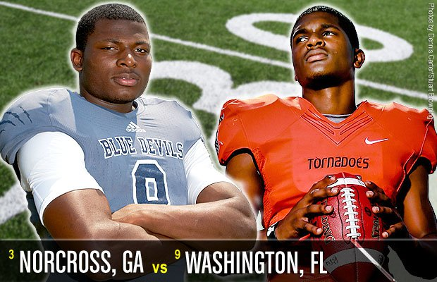 The top game of the week for the opening salvo features Florida power Washington taking its talents north to face Norcross (Ga.).