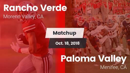 Football Game Recap: Paloma Valley vs. Rancho Verde