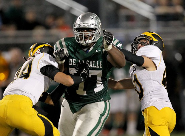 Kahlil McKenzie not only leads De La Salle with 12 sacks, but mostly demands double teams leaving lanes open for teammates.