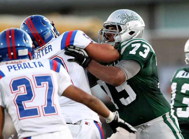 Larry Allen III has been a two-year starter for the Spartans. He'll face a defensive line at Bosco that feature three Division I prospects.