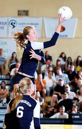 Carly Wopat (2) and Paige Craine (6), Dos Pueblos