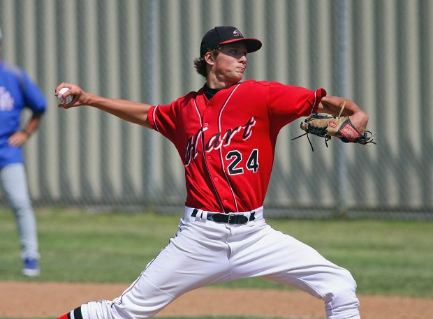 Tyler Glasnow played high school baseball for Hart (Calif.) and will be the starter for the Tampa Bay Rays in Game 1 of the World Series.