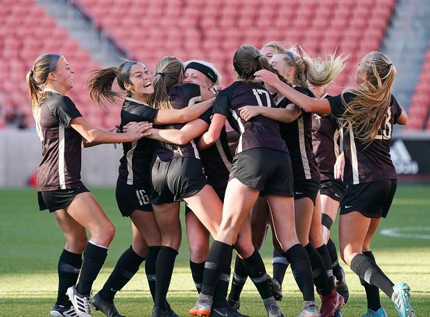 The Lone Peak girls soccer team took the 6A title.