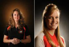 Liz Armbrustmacher of Lakewood, left, and Chaparral's Nicole Dalton are the All-Colorado volleyball coach and player of the year.
