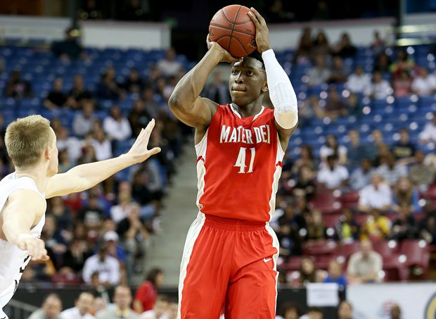 Stanley Johnson scored 26 points and grabbed 12 boards Saturday night to help Mater Dei win its third California state crown in a row, beating Aaron Gordon and Archbishop Mitty 50-45.