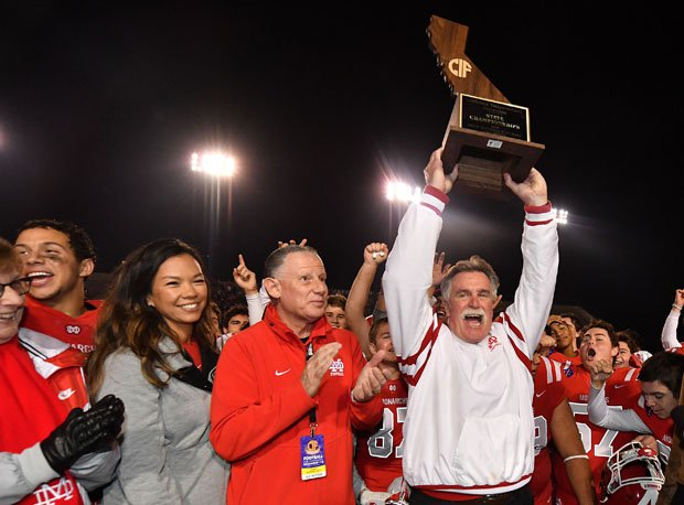 When you play a tough schedule, says Mater Dei coach Bruce Rollinson, the better the chance you hold up a trophy at the end of the season.