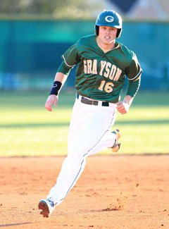 Meadows rounds the bases in the NHSI.