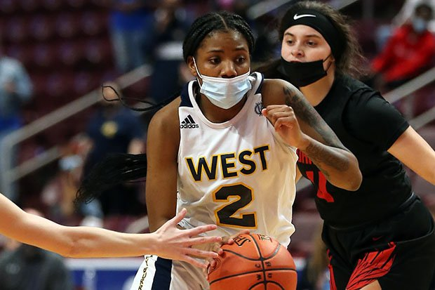 Destiney McPhaul in action during West Catholic's Class AAA state championship win over Mohawk.