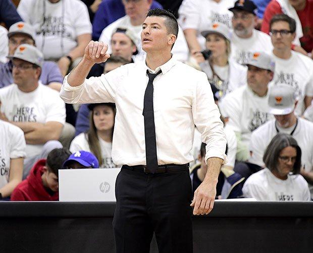 Head coach David Evans