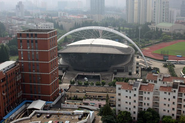 The arena in Shanghai where the Nike High School Elite Camp is being held.