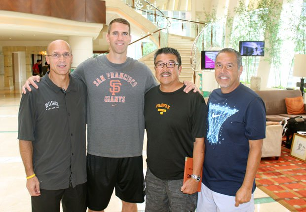 Back at the hotel: Frank Allocco, Tim Kennedy, Harvey Katani and Tony Dorado.