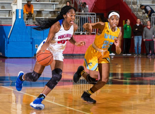 Zarielle Henderson won a pair of state titles in her four years at Duncanville.