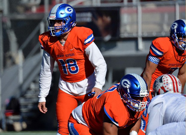 Gorman quarterback Tate Martell accounted for five touchdowns during the first half.