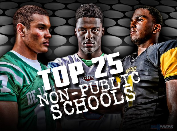 We've got a Top 25 for non-public schools. Check out this list of juggernauts.
