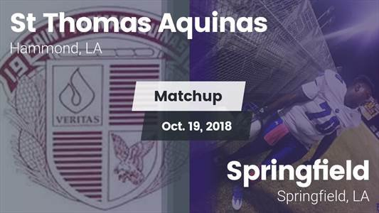 Football Game Recap: St. Thomas Aquinas vs. Springfield