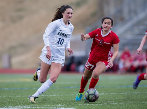 Senior Gracie Armstrong, 10, has helped Legacy move into the top 10 rankings. A player of the year candidate, Armstrong has tallied 15 goals and eight assists in a tough Class 5A Front Range League.