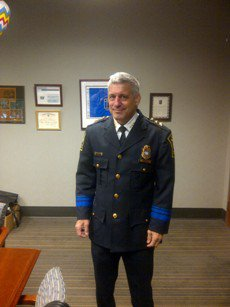Jim Strillacci doubled as a wrestlingmentor and a police chief in WestHartford for many decades.