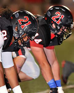 Coppell players wore Jacob's No. 21 on their helmets.