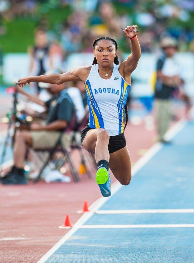 Tara Davis broke the 24-year-old California state-meet long jump record held by Marion Jones.