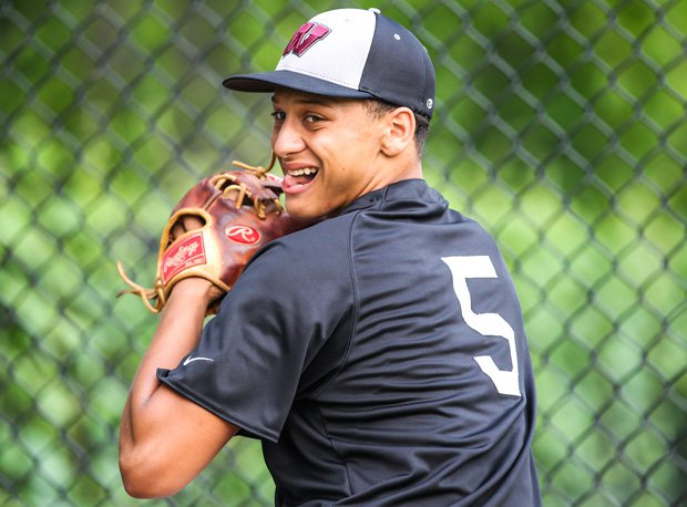 Beyond being one of the country's top athletes, and, according to coaches, a superb leader and teammate, Whitehouse (Texas) senior Patrick Mahomes is a tremendous competitor as demonstrated by the look on his face during a bullpen session.