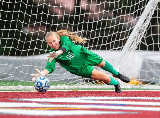 Michigan commitment Stephanie Sparkowski kept 12 clean sheets in 18 matches this fall at East Meadow (N.Y.).